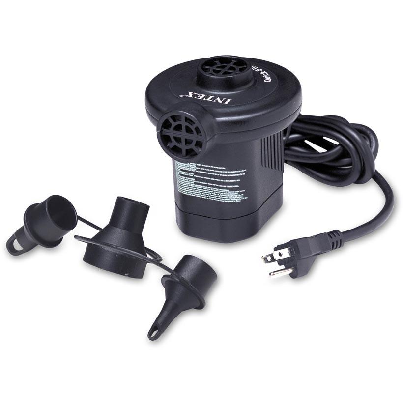 Intex 66619e quick fill ac electric air pump 110 120 volt for Quick up pool 120 hoch