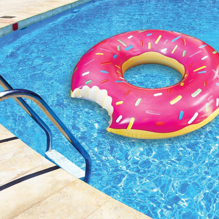 Big Mouth Toys Gigantic Donut Pool Float Island Beach Gear