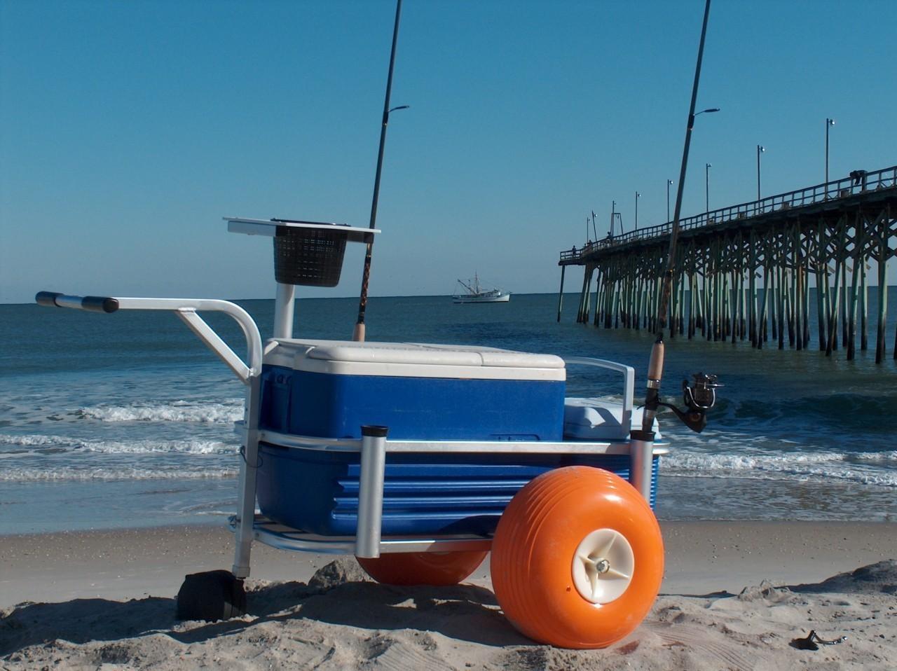 Fish n mate 303 jr cart with poly wheels island beach gear for Fish n mate