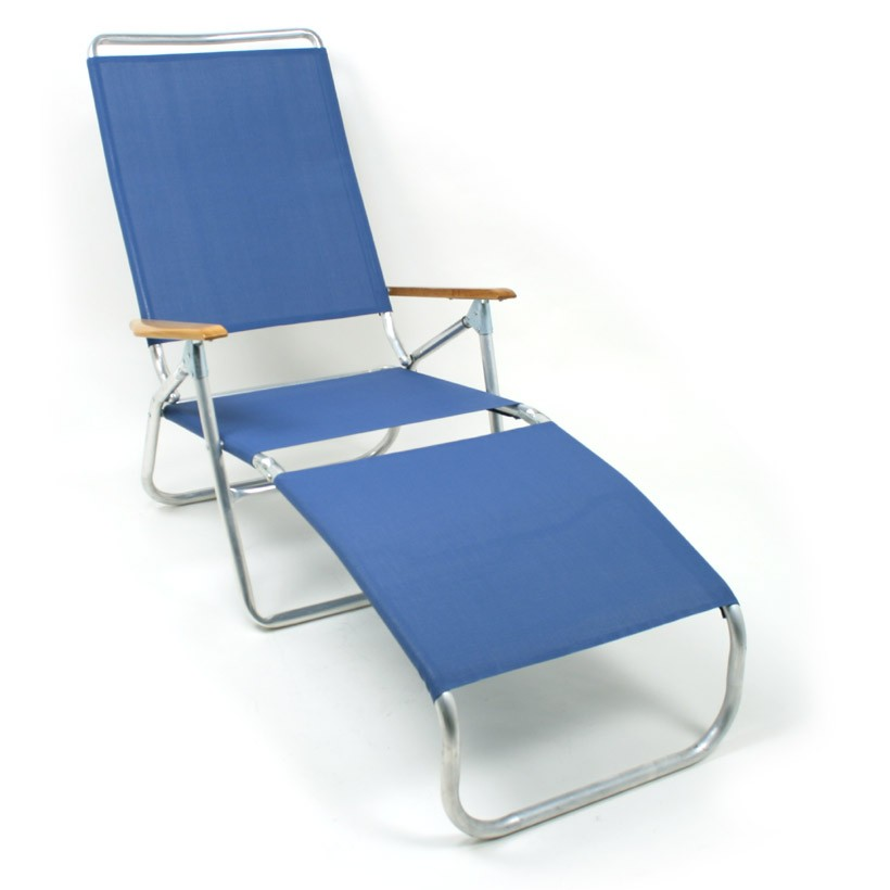 Telescope 821 folding chaise lounge beach chair for Beach chaise lounge folding