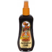 Australian Gold AG505 SPF 4 Sunscreen Spray Gel w/ Bronzer 8-oz.