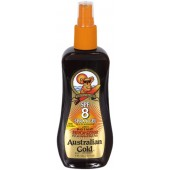 Australian Gold AG509 SPF 8 Sunscreen Spray Gel w/ Bronzer 8-oz.
