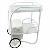 Telescope 2055 20 x 25 Serving Cart with Cooler White Gloss Powdercoat
