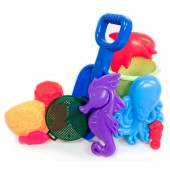 American Plastic Toys 02660 10 Pc. Spring Value Beach & Sand Toys Set