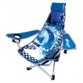Kelsyus 80073 Recline Backpack Beach/Camp Outdoor Chair Blue Wave