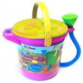 Mag-Nif 8200-4 Sand and Water 12 Piece Play Set - Yellow Lid