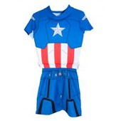 Swimways 27070 Deluxe Swim Shorty Set - Marvel 3-4 - Captain America
