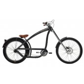 Nirve Switchblade Chopper 3 Speed Men's Beach Cruiser Bikes 3516 Metallic Charcoal