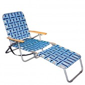 Copa 10268 5 Position Web Chaise Lounge Chair Aqua/Royal