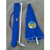 Dig-Git Beach Umbrella w/ Integrated Anchor