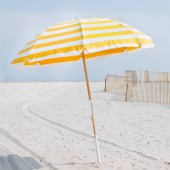 Frankford & Sons 845W 7.5-Foot Steel Skeleton Beach Umbrella