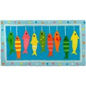 Home Comfort Jellybean Rug Line Caught - Fish on a line JB-AB029