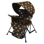 Kelsyus 80382 Kids Go With Me Chair with Bonnet - Green Dot