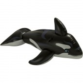 Intex IT58561 76-Inch Inflatable Black Killer Whale Ride-On