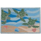 Home Comfort Jellybean Rug Sea Turtles Swimming JB-PB002