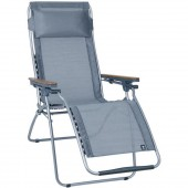 Lafuma Futura Clipper ACB Folding Recliner LFM3065 Wood Arm/Carbon