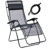 Lafuma 1462 RSXA XL Recliner Outdoor Patio Chairs with Black Laces Kits