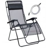Lafuma 1462 RSXA XL Recliner Outdoor Patio Chairs with White Laces Kits