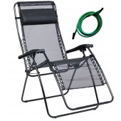 Lafuma 1462 RSXA XL Recliner Outdoor Patio Chairs with Pine Green Laces Kits