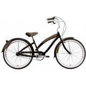 Nirve Minx 3 Speed Ladies Beach Cruiser Bikes 3435 Gloss Black