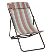 Lafuma 2455-6460 Transaluxe-Bray Batyline Mesh Chair - Gelato (Striped) Tube Marron