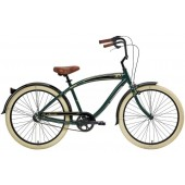 Nirve Classic 3 Speed Men's Beach Cruiser Bikes 3450 Forest Green