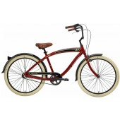 Nirve Classic 3 Speed Men's Beach Cruiser Bikes 3471 Red