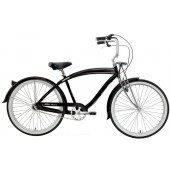 Nirve Fifty-Three 3 Speed Men's Beach Cruiser Bikes 1506 Gloss Black