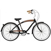 Nirve Forty-Nine 3 Speed Men's Beach Cruiser Bikes 3359 Gloss Black
