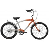 Nirve Inferno 3 Speed Men's Beach Cruiser Bikes 3475 Orange Flame
