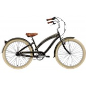 Nirve Classic 3 Speed Ladies Beach Cruiser Bikes 3457 Gloss Black