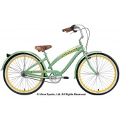 Nirve Sunflower 3 Speed Ladies Beach Cruiser Bikes 3332 Sage Green