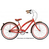Nirve Island Flower 3 Speed Ladies Beach Cruiser Bikes 3443 Red