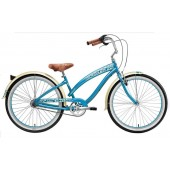 Nirve Lahaina 3 Speed Ladies Beach Cruiser Bikes 3483 Turquoise
