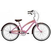 Nirve Lahaina 3 Speed Ladies Beach Cruiser Bikes 3424 Pink Pearl