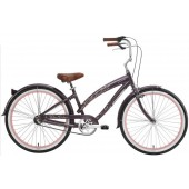 Nirve Cherry Blossom 3Spd Ladies Beach Cruiser Bikes 3456 Mocha Frost