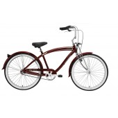Nirve Fifty-Three 3 Speed Men's Beach Cruiser 3507 Burgundy