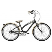 Nirve Island Flower 3 Speed Women's Beach Cruiser 3481 Metallic Charcoal