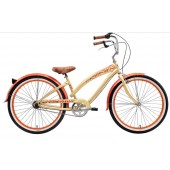 Nirve Lahaina 3 speed Women's Beach Cruiser 3485 Cocoa Butter