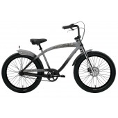 Nirve Skulls 3 Speed Men's Beach Cruiser 3433 Matte Grey/Black