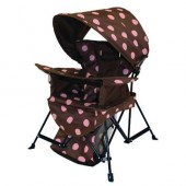 Kelsyus 80380 Kids Go With Me Chair with Bonnet - Pink Dots