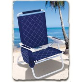 Rio SC685C-63 Quilted Easy-In Easy-Out Beach Chair