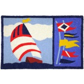 Home Comfort Jellybean Rug Sailboat & Flags JB-JSB001