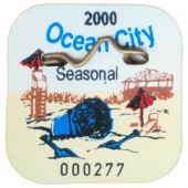 Shore Memories Ocean City NJ Beach Tag 2000 Photo Plaque