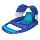 SwimWays 13022 Spring Float Recliner with Canopy - Blue 