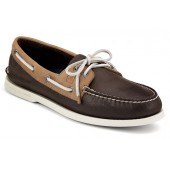 Sperry Top-Sider Men's Authentic Original Burnished Shoes Dark Brown/Tan