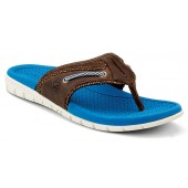 Sperry Top-Sider Men's Billfish UltraLite Thong Sandal Brown Leather/Blue