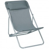 Lafuma Transatube XL Patio Outdoor Beach Chair Batyline Carbon Fabric